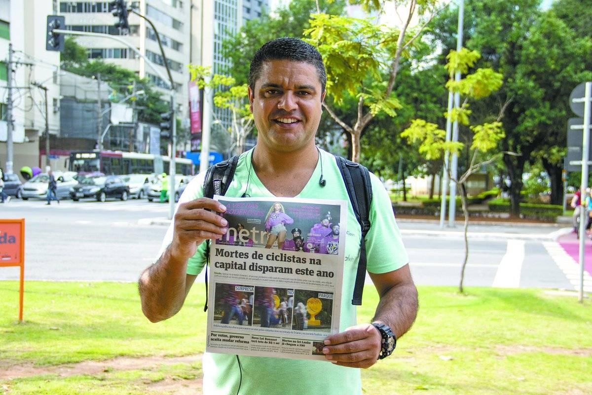Fabiano Oliveira Silva, 37 anos, segurança André Porto/Metro