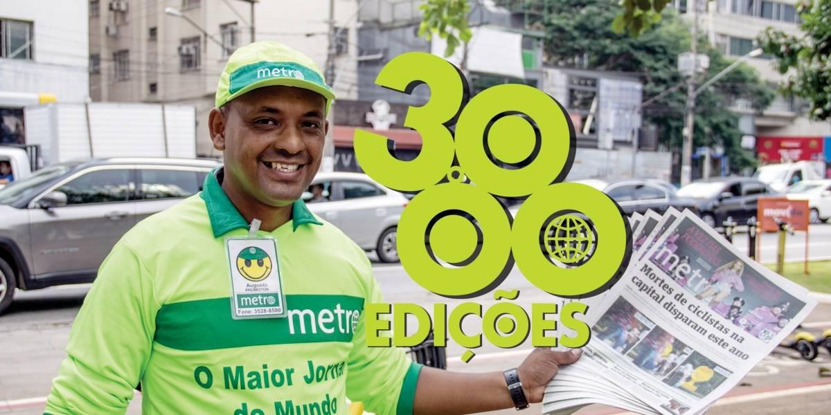 Metro Jornal comemora sua edição 3 mil em São Paulo