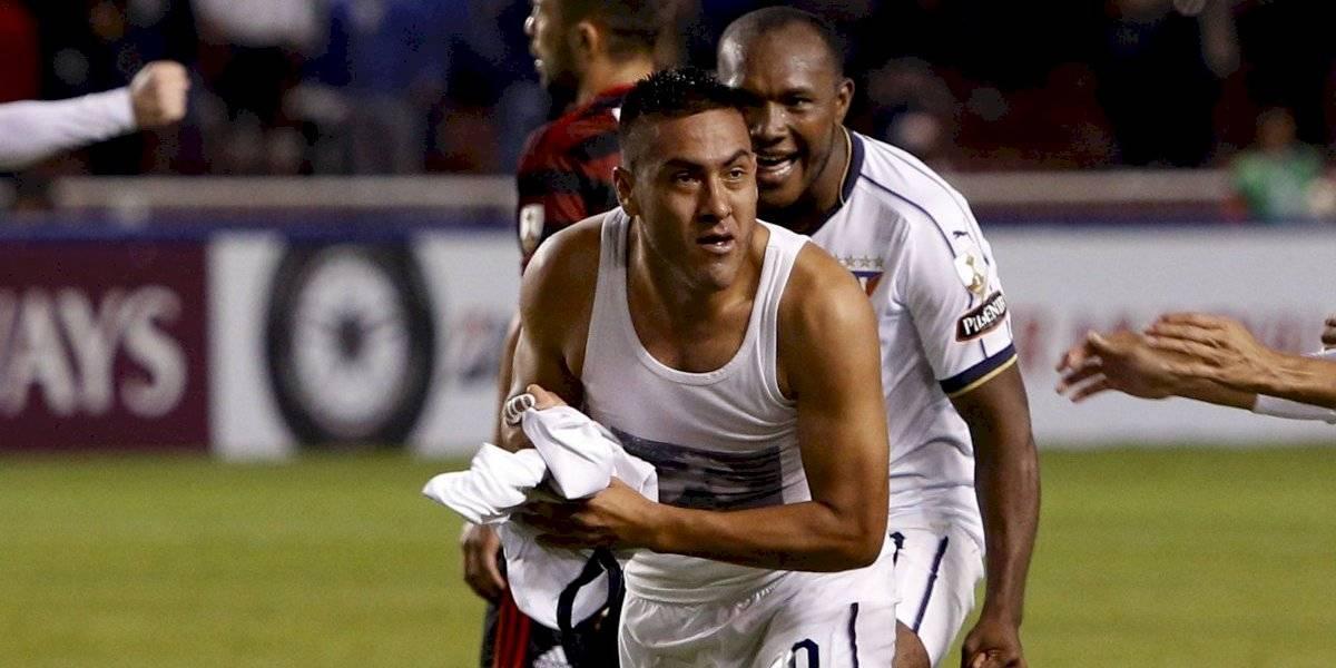 Lo que no viste de la celebración del gol de Chicaiza ante Flamengo