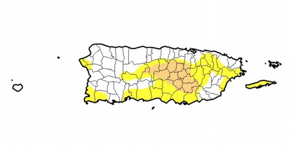 Aumento leve en zonas en sequía moderada