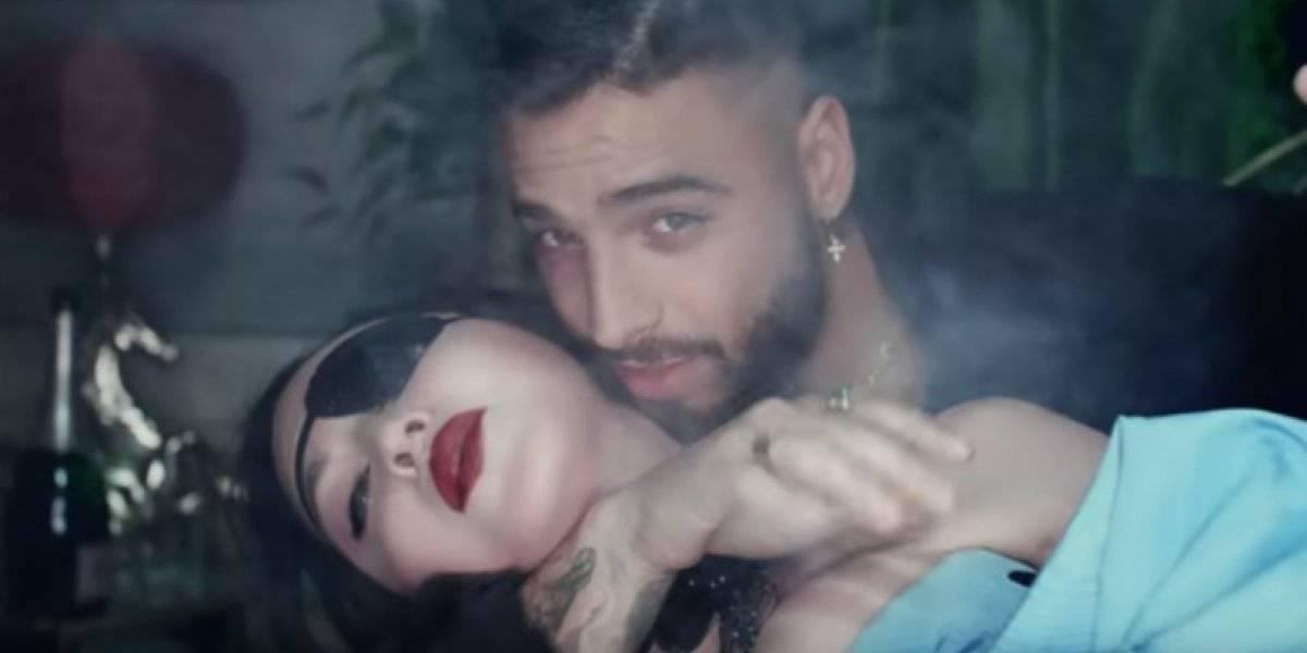 """Muy eróticos Maluma y Madonna en video de """"Medellín"""""""