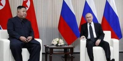 Vladimir Putin y Kim Jong Un se reúnen
