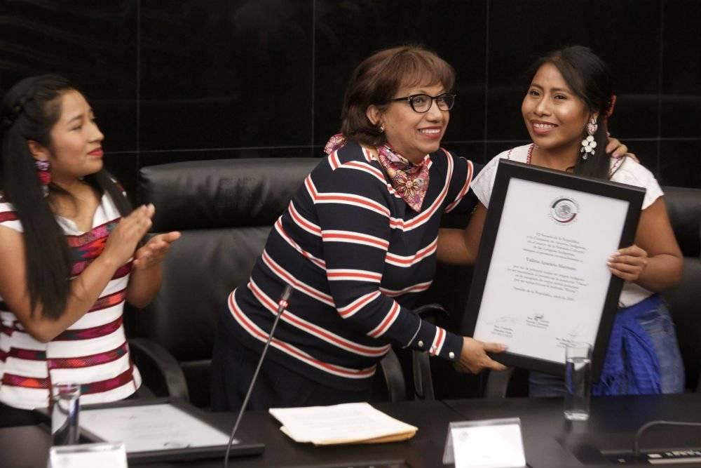 Reconoce Senado a Yalitza Aparicio y Nancy García