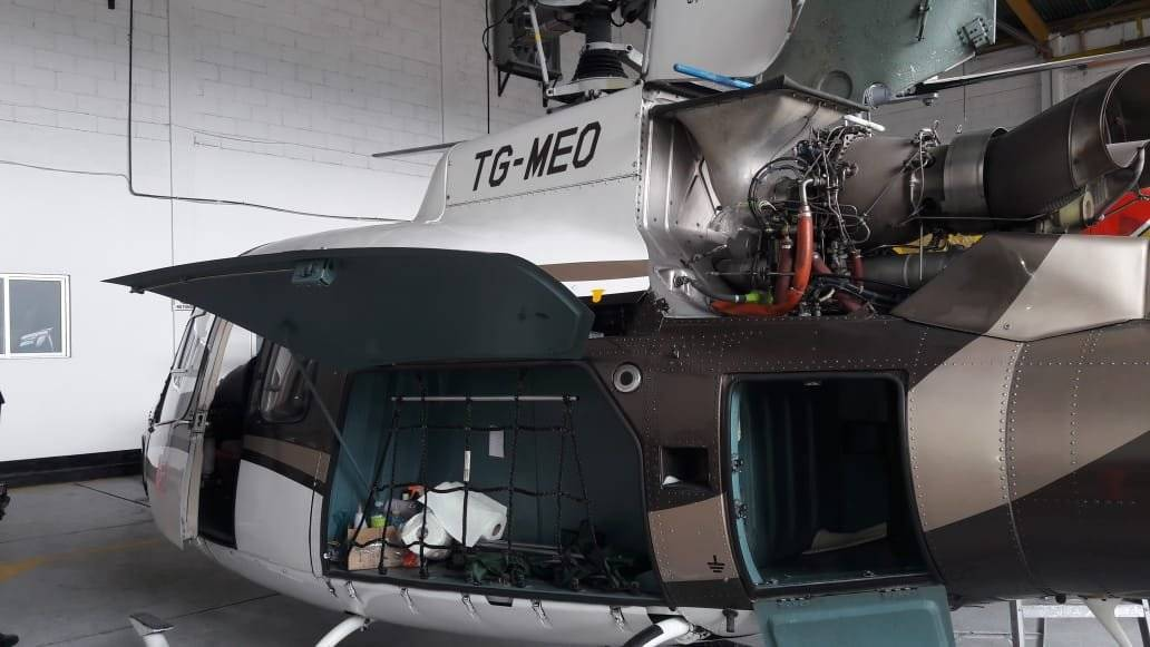 MP inspecciona aeropuerto y localiza helicóptero vinculado a Mario Estrada, el cual habría usado el presidente Jimmy Morales. Foto: Ministerio Público
