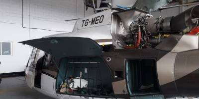 MP inspecciona aeropuerto y localiza helicóptero vinculado a Mario Estrada, el cual habría usado el presidente Jimmy Morales.