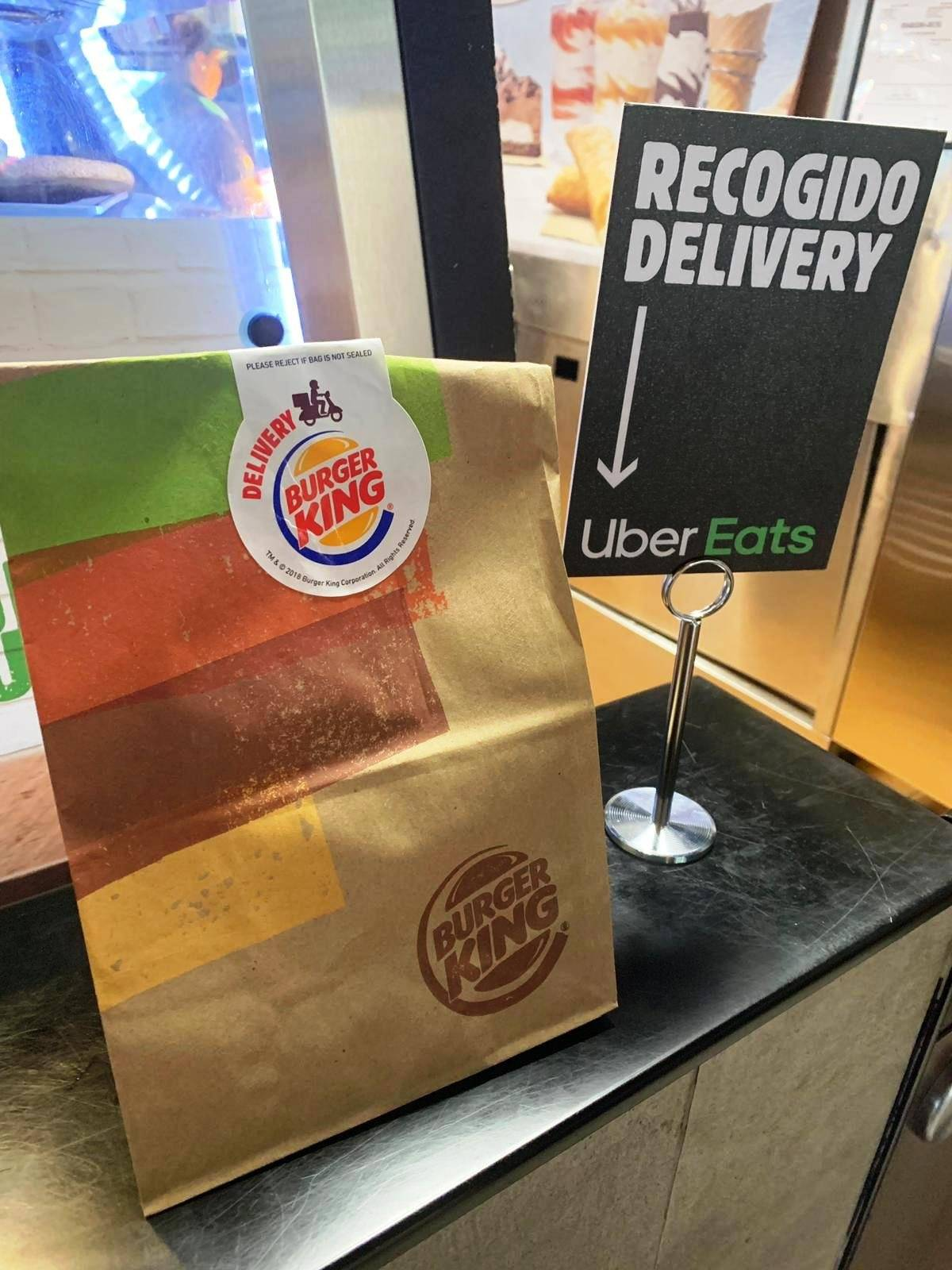burger King uber eats