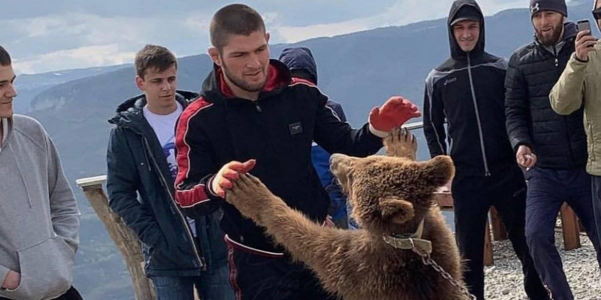 VIDEO: Estrella de UFC 'pelea' con un oso mientras sus amigos lo golpean