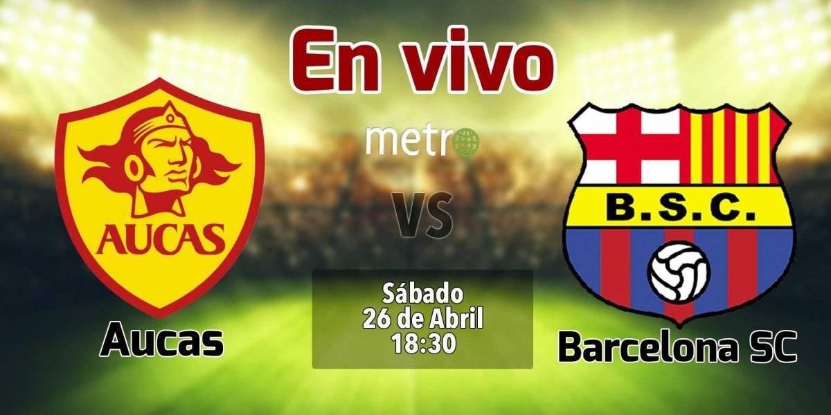 Liga pro Ecuador: Aucas vs Barcelona SC. En vivo, dónde ver el partido, hora y alienaciones