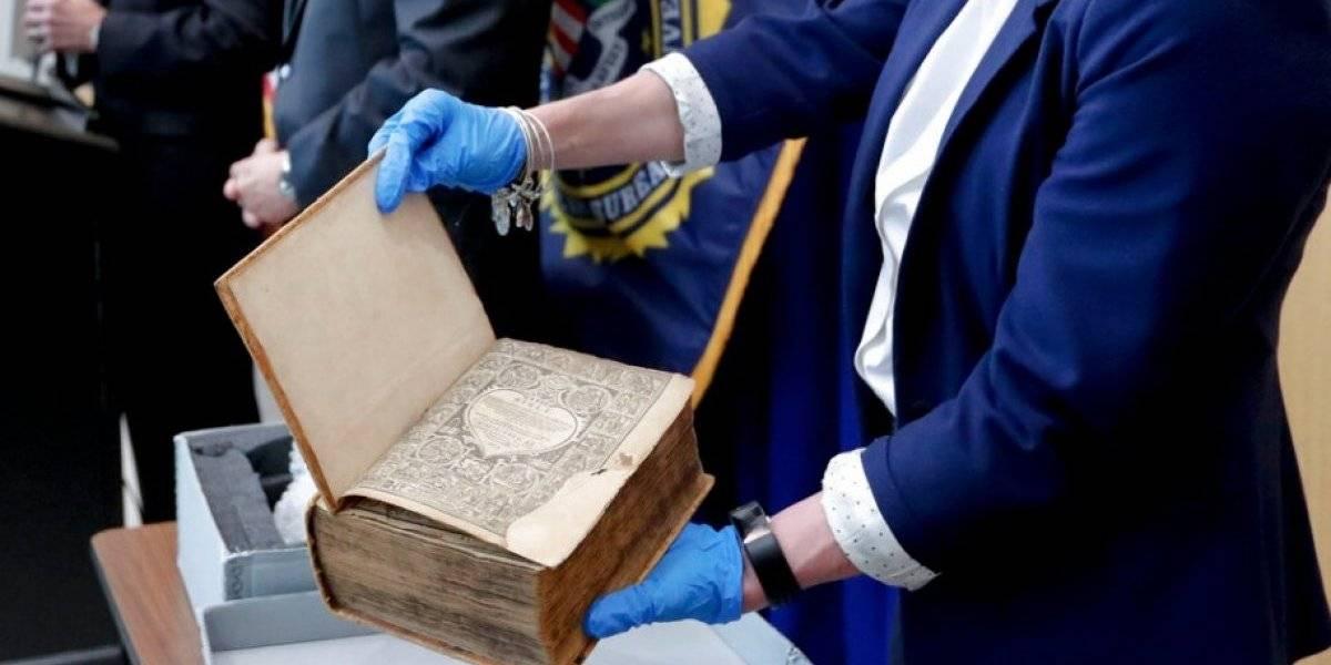 Encuentran en Holanda antigua Biblia robada en EE. UU.