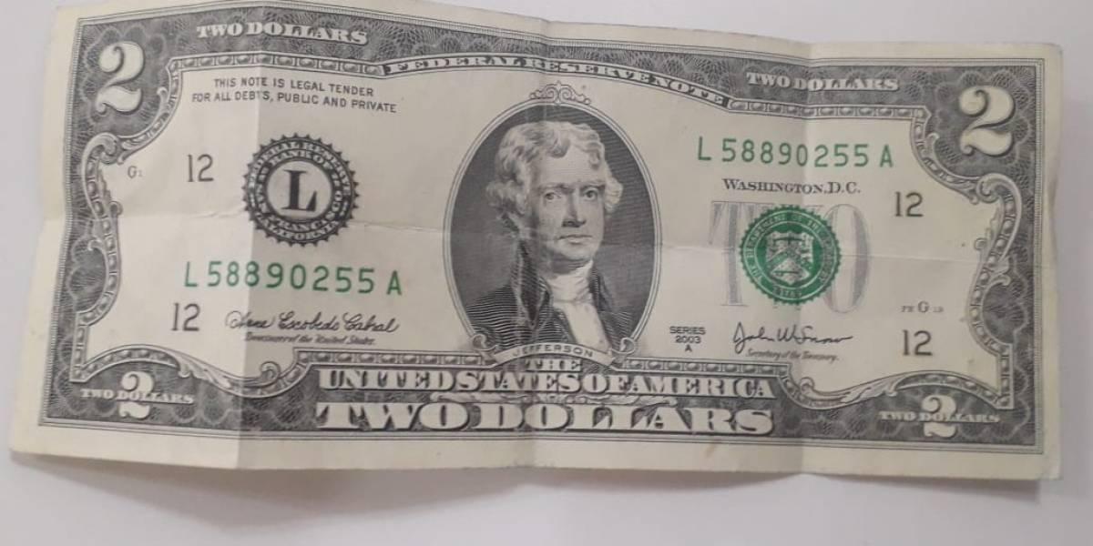 Banco Central del Ecuador: Desde el 1 de Mayo circulará el billete de dos dólares