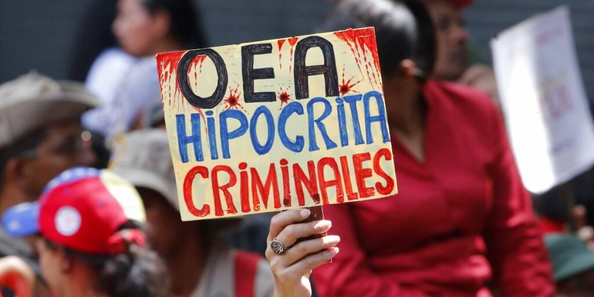 Gobierno de Venezuela organiza marcha contra OEA