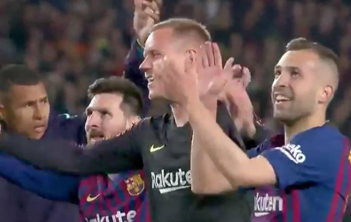 Murillo en título de Barcelona en LaLiga Española 2018/19