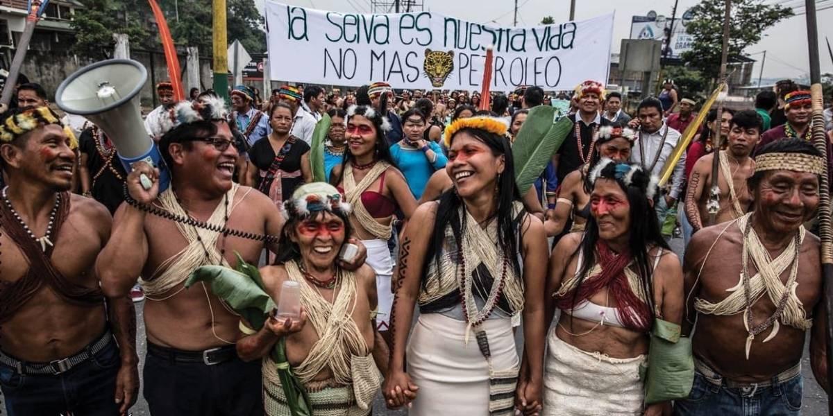 Indigenas Waoranis ganan caso contra petroleras en Amazonía