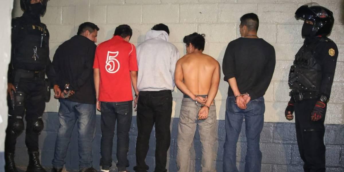 Seis supuestos integrantes pandilleros son detenidos por la PNC