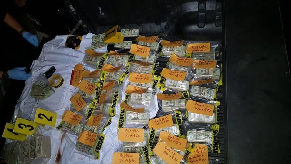 Dólares escondidos en tanque de gasolina PNC