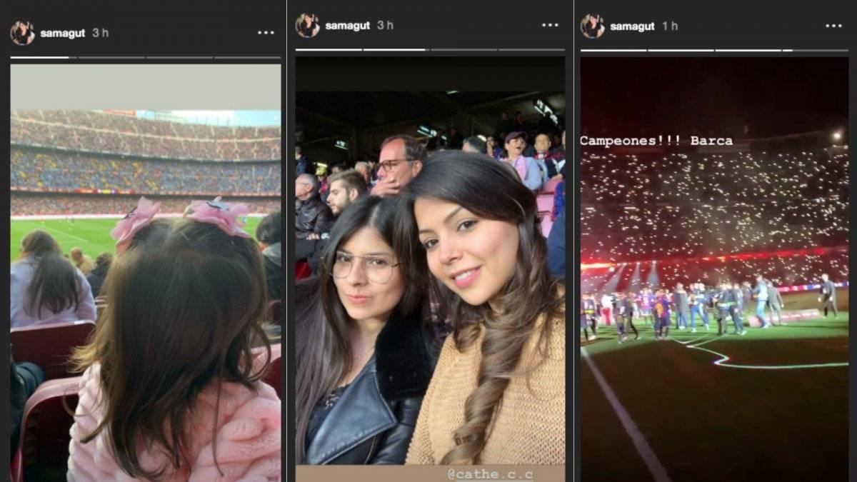 Esposa de Murillo en el Camp Nou