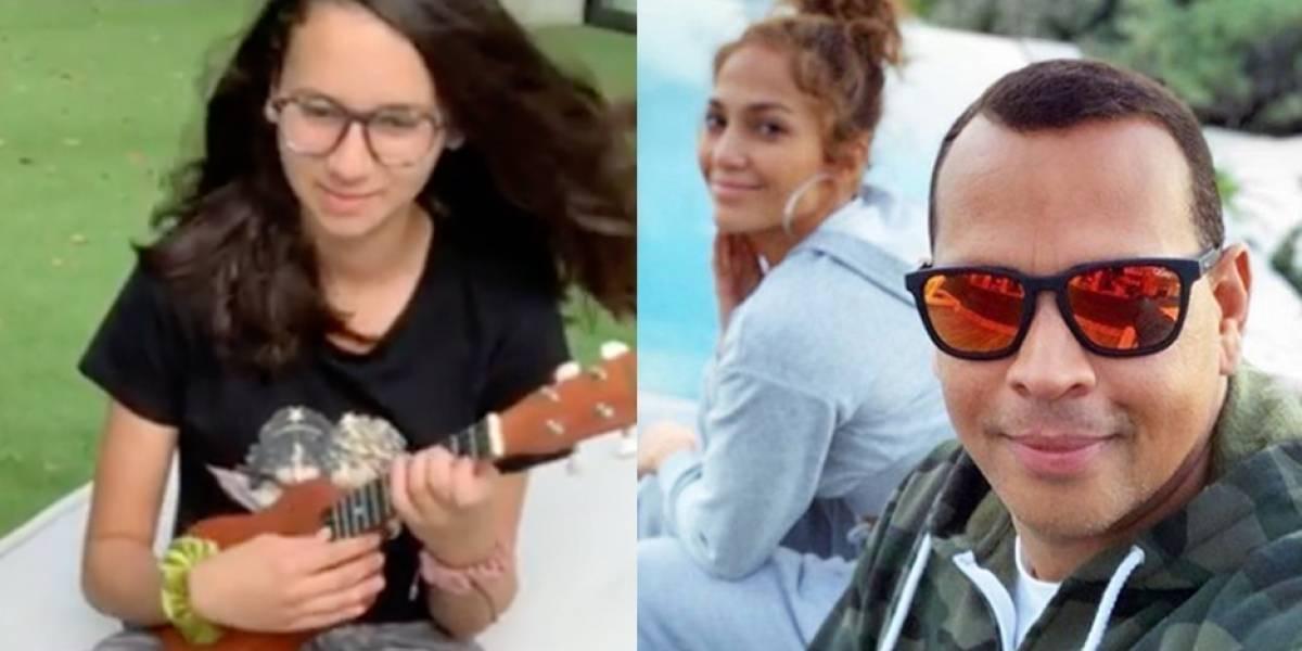 Hija de Alex Rodríguez sigue los pasos de Jennifer López