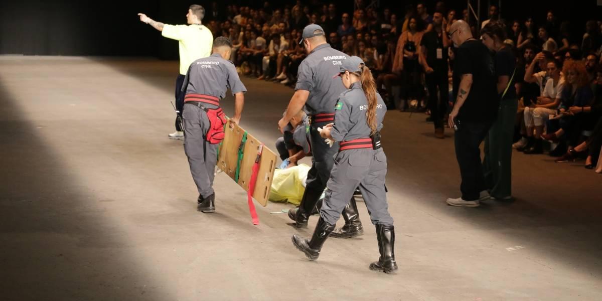Modelo morre após desmaiar na passarela da São Paulo Fashion Week