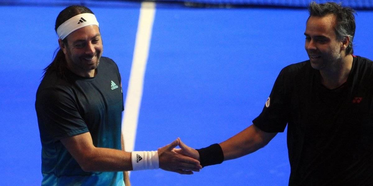 Como en los viejos tiempos: Nico Massú y Feña González se impusieron en duelo amistoso ante Chela y Mónaco
