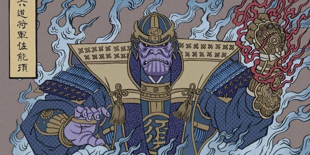 Vean a los personajes de Avengers: Endgame dibujados al estilo japonés Ukiyo-e