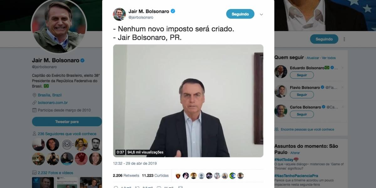 Bolsonaro nega criação de imposto anunciada por seu secretário da Receita Federal