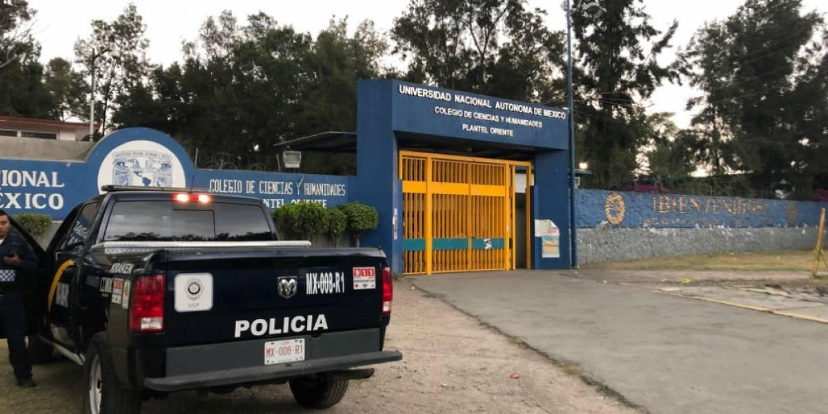 UNAM confirma muerte de alumna baleada dentro del CCH Oriente