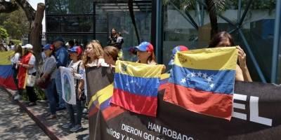 manifestación de venezolanos en Guatemala