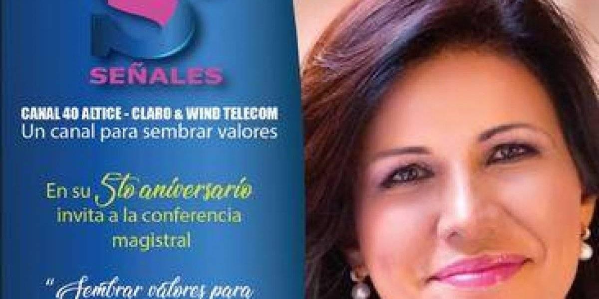 """""""Señales TV"""" celebrará quinto aniversario con conferencia sobre valores dictada por Margarita Cedeño"""