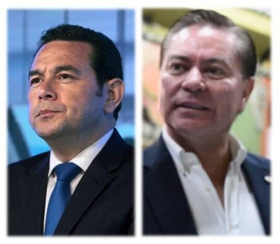 Reunión del presidente Jimmy Morales y Mario Estrada. Foto: Publinews