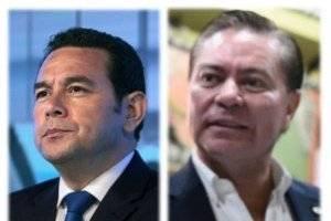 Reunión del presidente Jimmy Morales y Mario Estrada.