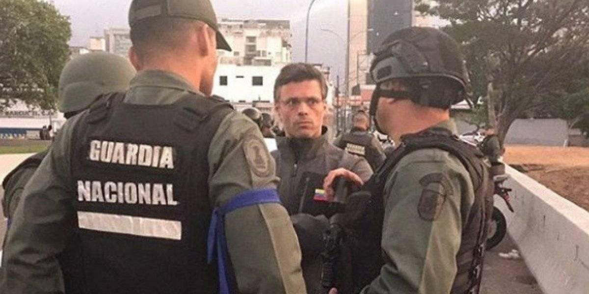 Militares liberan al activista venezolano Leopoldo López