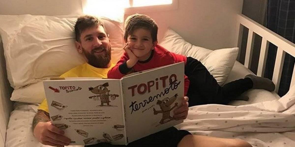 Hijo de Messi recibe mensajes de consuelo de niños argentinos