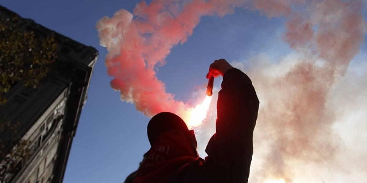 """La pelea entre las dos caras del 1 de mayo: la apaleada CUT y la """"combativa"""" Central Clasista de Trabajadores"""