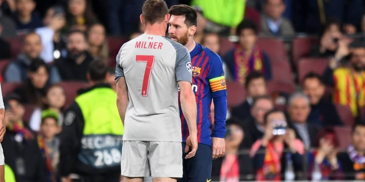 ¡Así no es Lionel! El grosero gesto de Messi con un jugador del Liverpool en 'semis' de Champions