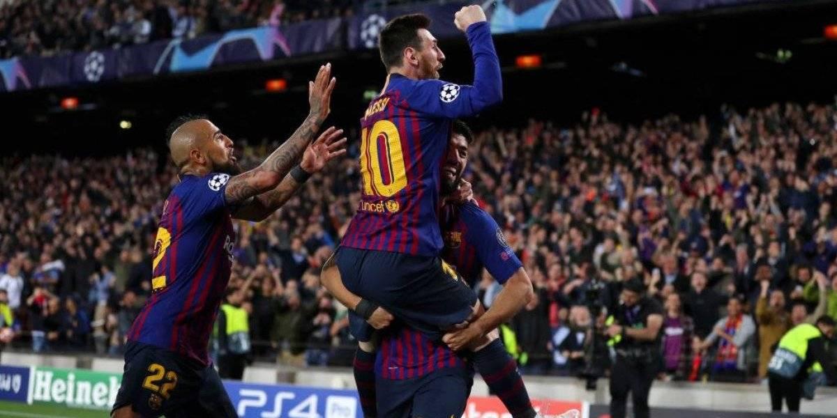 """Vidal fue el obrero y Messi el """"maestro"""" en la goleada que pone a Barcelona con un pie en la final de la Champions"""