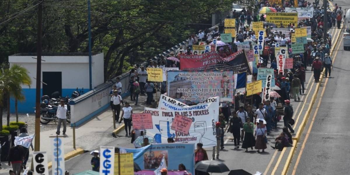 Marcha del Día del Trabajo demanda acciones a los poderes del Estado