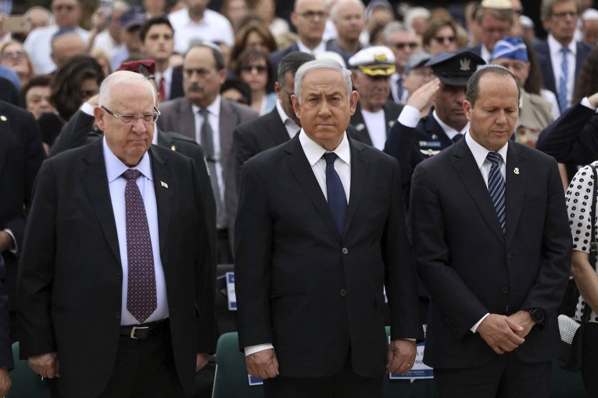 Ceremonia oficial en recuerdo a las víctima del Holocausto Foto: AP