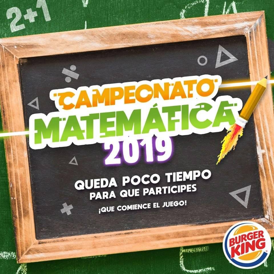 Campeonato de Matemática Burger King