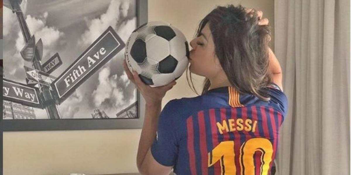 Así celebra Miss BumBum golazo 600 de Messi que hizo enfadar a Antonela Rocuzzo