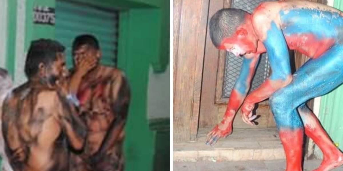 Cártel pinta a sus presos como 'Avengers' y los hace caminar desnudos por las calles