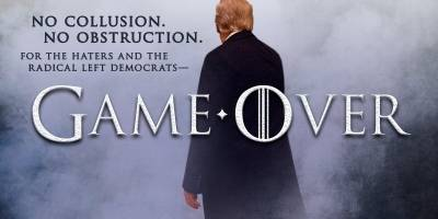 Donald Trump usando la tipografía de Game of Thrones