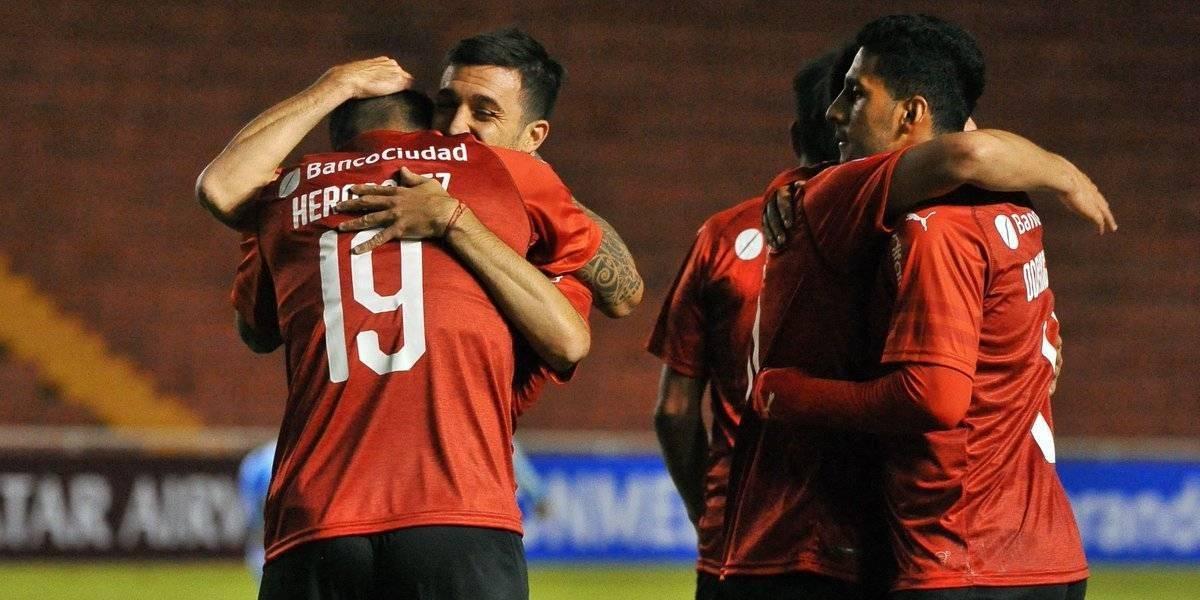 El Tucu Hernández anotó un golazo en la clasificación de Independiente en la Sudamericana