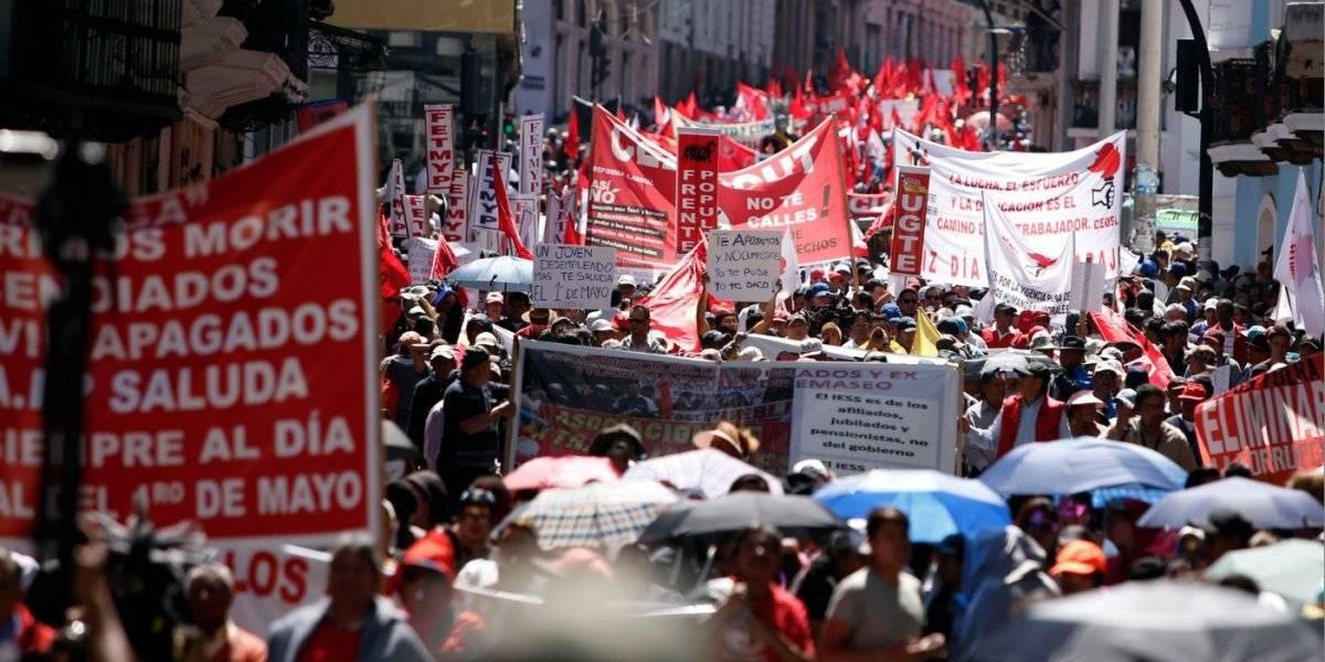 Día de los Trabajadores: Denuncian agresión a estudiantes de la Universidad Central del Ecuador