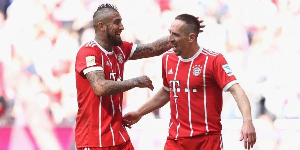 """Ribery se rinde a su """"hermano"""" Arturo Vidal: """"Nos enseñaste lo que significa ser un guerrero"""""""