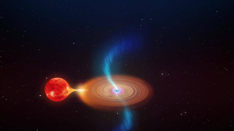 Descubren a un agujero negro capaz de expulsar chorros de plasma en cualquier dirección