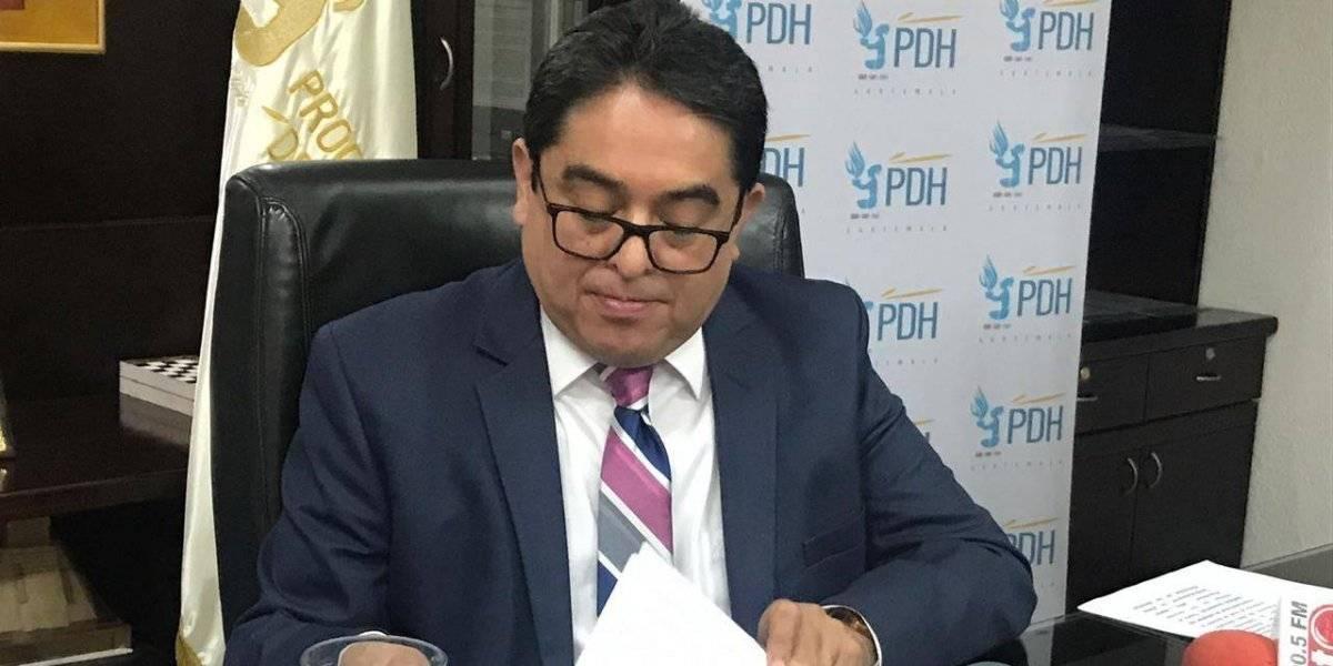 PDH aclara información sobre medidas de seguridad a Mario Estrada