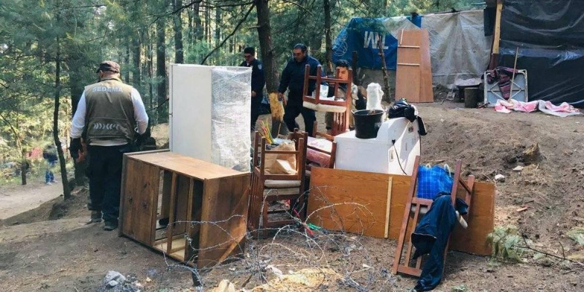 Desmantelan asentamiento irregular en bosque de Cuajimalpa