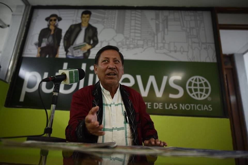 Pablo Ceto, presidenciable por URNG-Maíz.