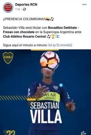 Error RCN Deportes Boca Juniors y Sebastián Villa