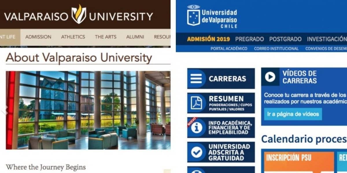¿Extraño alcance de nombres?: la Universidad de Valparaíso que no está en Chile sino en EE.UU.